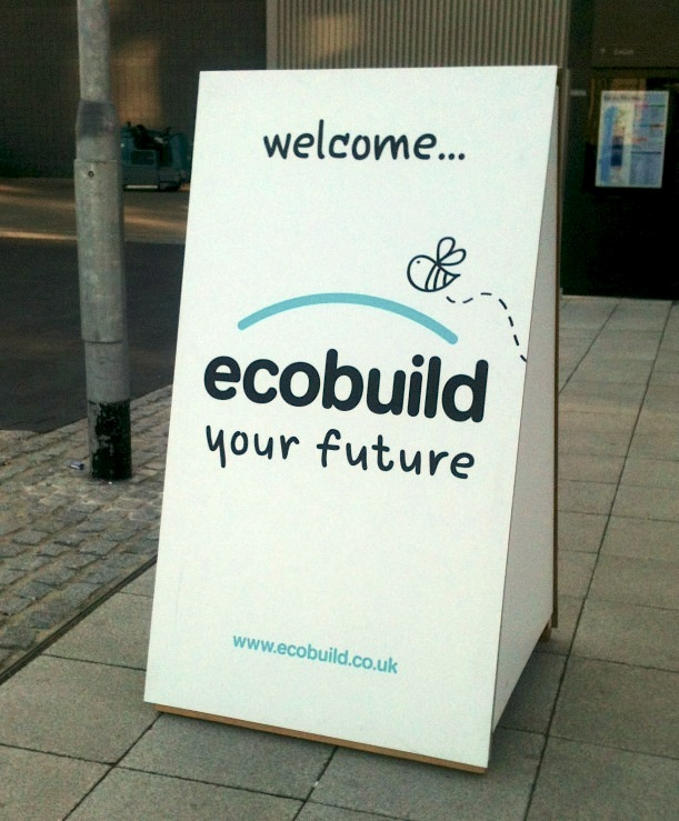 Ecobuild 2012 Entrance Welcome Sign