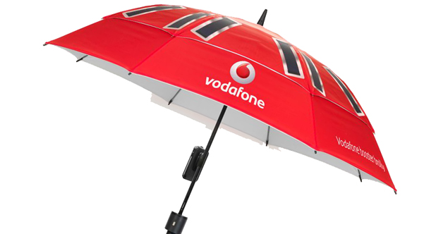 The finished Vodafone Booster Brolly